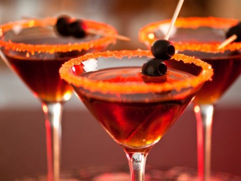 Black Devil Martini Halloween Cocktail Recipe