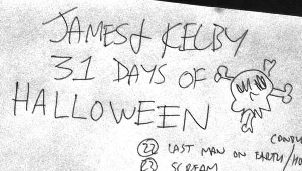 31 days of Halloween movie list