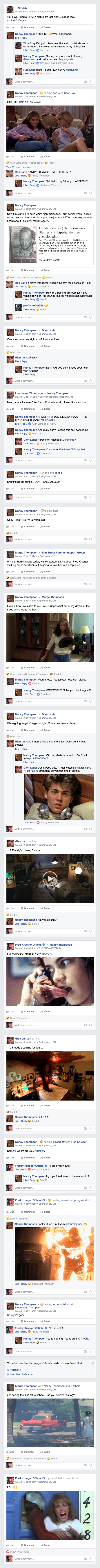 Nightmare on Elm Street Kids Facebook Timeline